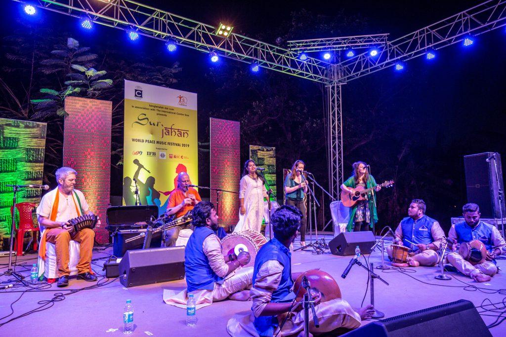 Madagoan on stage at Sur Jahan festival, Goa, February 2019.